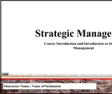 Class Slides for Strategic Management