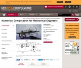 Numerical Computation for Mechanical Engineers, Fall 2012