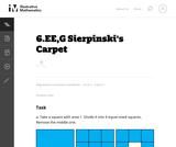 6.EE,G Sierpinski's Carpet
