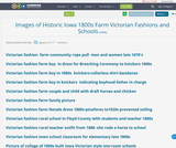Images of Historic Iowa 1800s Farm Victorian Fashions and Schools