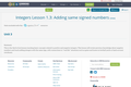 Integers Lesson 1.3:  Adding same signed numbers