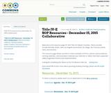 Title IV-E SOP Resources - December 15, 2015 Collaborative