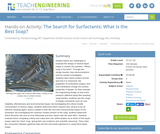 The Search for Surfactants: What Is the Best Soap?