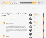Solar System Model on a City Map