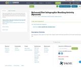 Balanced Diet Infographic Reading Activity (Spanish)