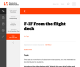 F-IF From the flight deck