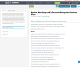 Books, Reading and Libraries Storytime Lesson Plan