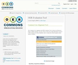 OER Evaluation Tool