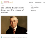 The Debate in the United States over the League of Nations