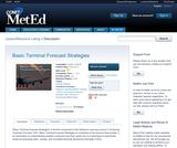 Basic Terminal Forecast Strategies