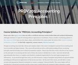 Accounting Principles I