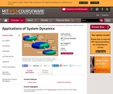 Applications of System Dynamics, Spring 2004