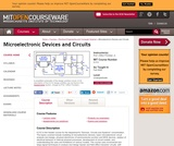 Microelectronic Devices and Circuits, Fall 2009