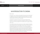An Introduction to Cinema – Moving Pictures