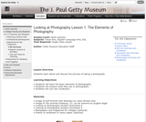 Looking at Photography Lesson 1: The Elements of Photography