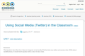 Using Social Media (Twitter) in the Classroom