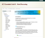 ICT Essentials for Teachers - Word Processing