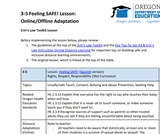 3-5 Feeling SAFE! Lesson (Online/Offline Adaptation)