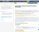 """Animal Personalidad,"" Animal Personalities, Novice Mid"