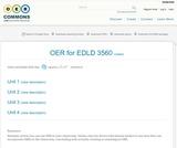 OER for EDLD 3560