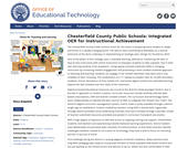 Chesterfield County Public Schools: Integrated OER for Instructional Achievement