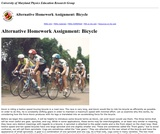 Activity Based Physics Alternative Homework Assignments: Bicycle
