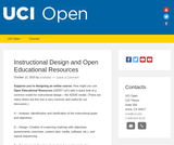 Instructional Design and Open Educational Resources
