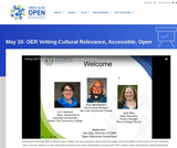 Vetting OER for Cultural Relevance, Accessibility and Licensing