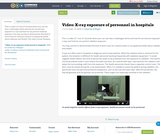 Video: X-ray exposure of personnel in hospitals