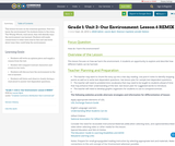 Grade 1: Unit 2- Our Environment: Lesson 6 REMIX