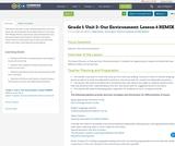 Grade 1: Unit 2- Our Environment: Lesson 6 REMIX