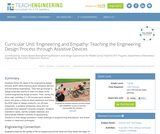 Engineering and Empathy: Teaching the Engineering Design Process through Assistive Devices