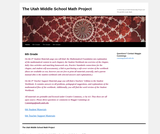 The Utah Middle School Math Project - 6th Grade