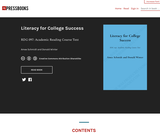 Literacy for College Success – Simple Book Publishing
