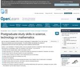 Postgraduate Study Skills in Science, Technology Or Mathematics