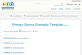 Primary Source Exemplar Template