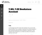 7.NS, 7.EE Bookstore Account