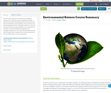 Environmental Science Course Summary
