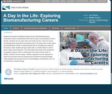 A Day in the Life: Exploring Biomanufacturing Careers
