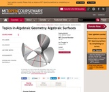Topics in Algebraic Geometry: Algebraic Surfaces, Spring 2008