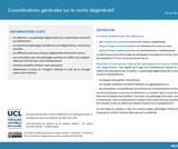 OER-UCLouvain: Considérations générales sur le rachis dégénératif