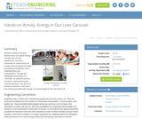 Energy in Our Lives Carousel