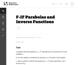 Parabolas and Inverse Functions