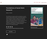Foundations of Social Work Research