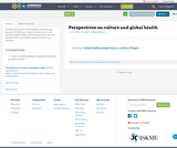 Perspectives on culture and global health
