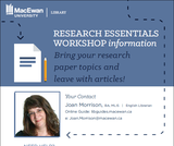 4 Points of Contact Blended Library Instruction Model: A Workbook for MacEwan University First-Year English Courses