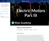 Electric motors (part 3)