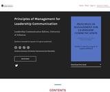 Principles of Management for Leadership Communication