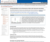 Concept Questions for the Photoelectric Effect with Interactive Simulation
