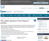 The autistic Spectrum: From theory to Practice